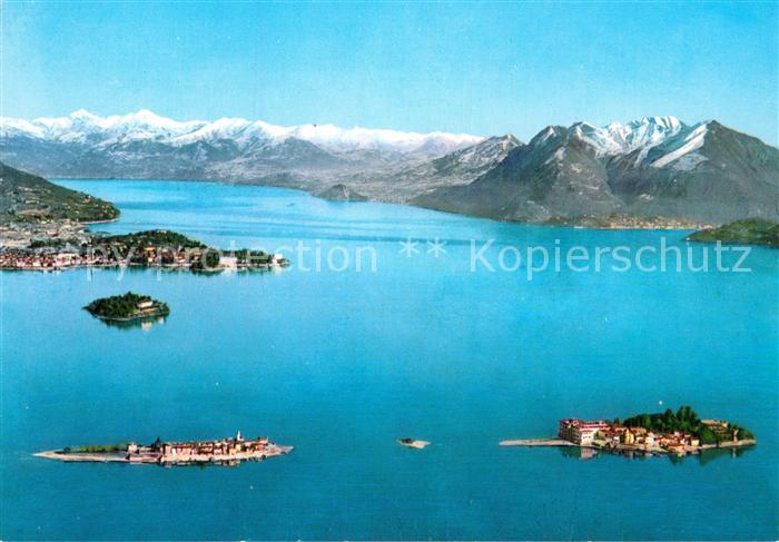 AK / Ansichtskarte Lago Maggiore Panorama Inseln Kat. Italien