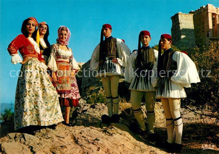 AK / Ansichtskarte Trachten Griechenland Athen Evzonen