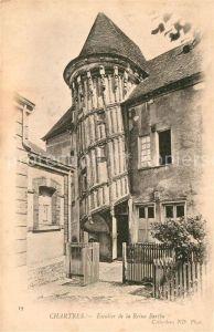 AK / Ansichtskarte Chartres Eure et Loir Escalier de la Reine Bertbe Kat. Chartres
