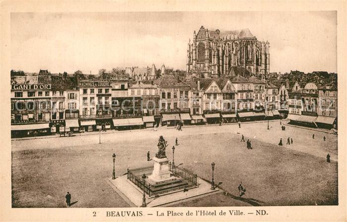 AK / Ansichtskarte Beauvais Place de Hotel de Ville  Kat. Beauvais