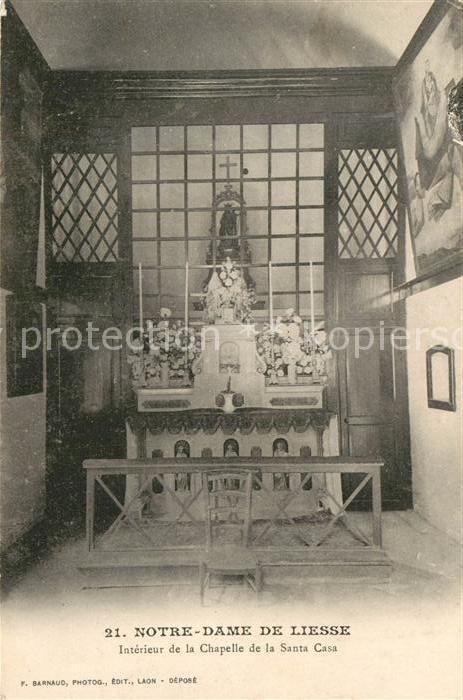 AK / Ansichtskarte Liesse Notre Dame Interieur Chapelle de la Santa Casa  Kat. Liesse Notre Dame