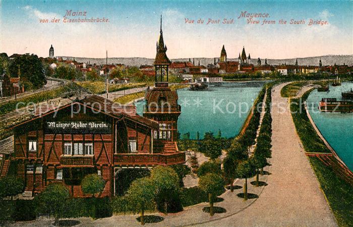 AK / Ansichtskarte Mainz Rhein Eisenbahnbruecke Mainzer Kuder Verein 0