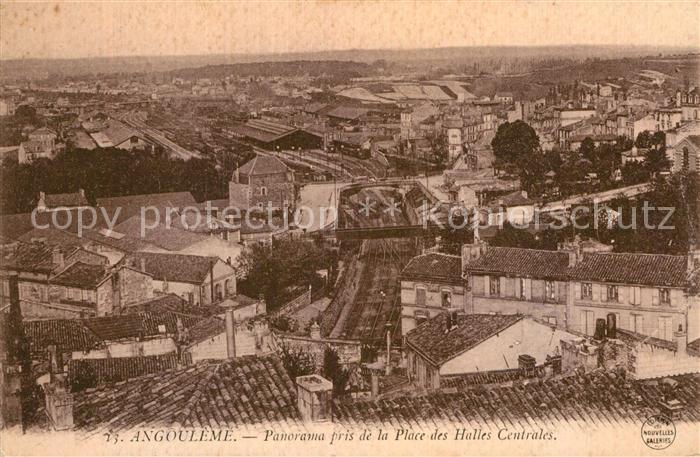 AK / Ansichtskarte Angouleme Panorama pris de la Place des Halles Centrales Kat. Angouleme