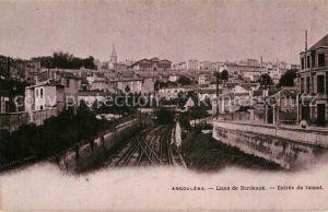 AK / Ansichtskarte Angouleme Ligne de Bordeaux Entree du tunnel Chemin de fer Kat. Angouleme