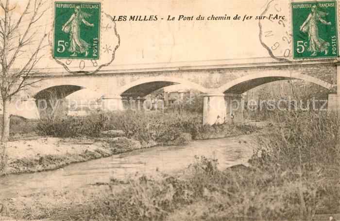 AK / Ansichtskarte Les Milles Pont du chemin de fer sur l Arc Kat. Aix en Provence