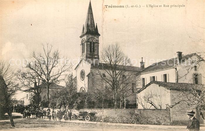AK / Ansichtskarte Tremons Eglise et Rue principale Kat. Tremons