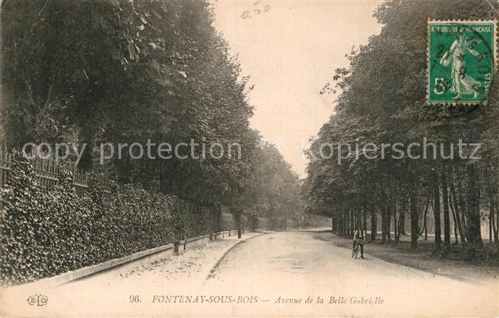 AK / Ansichtskarte Fontenay sous Bois Avenue de la Belle Gabrielle Kat. Fontenay sous Bois