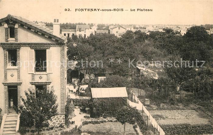 AK / Ansichtskarte Fontenay sous Bois Le Plateau Kat. Fontenay sous Bois