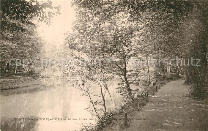 AK / Ansichtskarte Fontenay sous Bois Allee dans le Bois de Vincennes Kat. Fontenay sous Bois
