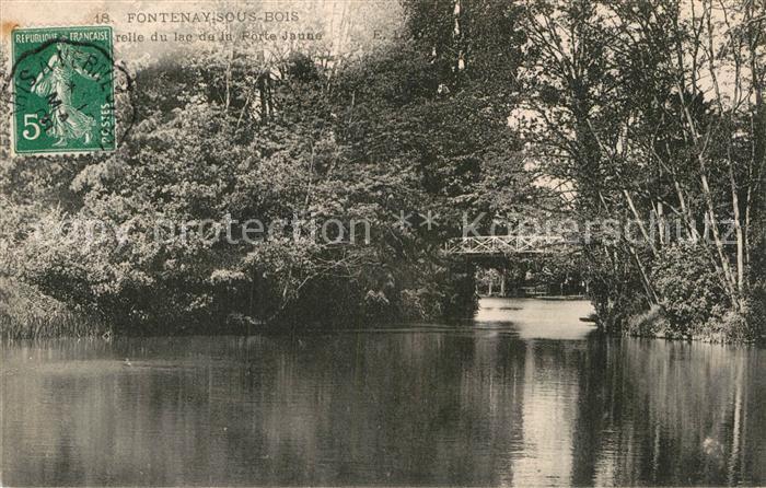 AK / Ansichtskarte Fontenay sous Bois Passerelle du lac de la Porte Jaune Kat. Fontenay sous Bois