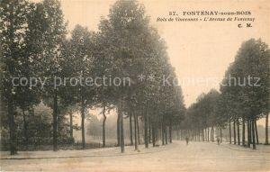 AK / Ansichtskarte Fontenay sous Bois Bois de Vincennes Avenue de Fontenay Kat. Fontenay sous Bois