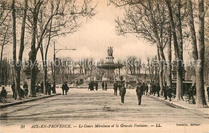 AK / Ansichtskarte Aix en Provence Cours Mirabeau et la Grande Fontaine Kat. Aix en Provence