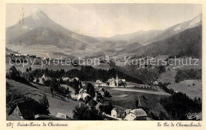 AK / Ansichtskarte Saint Pierre de Chartreuse Panorama Pic de Chamechaude