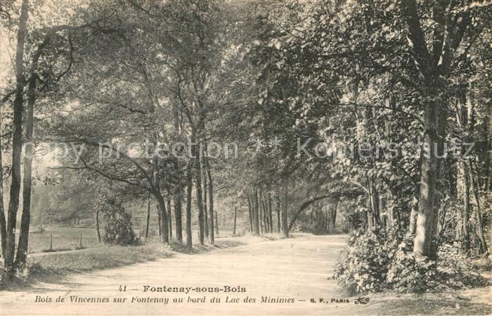 AK / Ansichtskarte Fontenay sous Bois Bois de Vincennes sur Fontenay au bord du Lac des Minimes Kat. Fontenay sous Bois