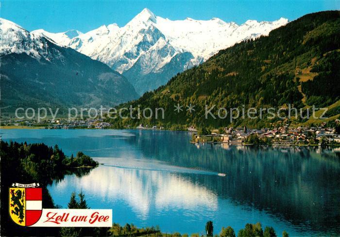 AK / Ansichtskarte Zell See Alpenseebad mit Kitzsteinhorn Kat. Zell am See