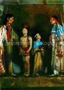 AK / Ansichtskarte Indianer Native American Praerie Indianer um 1890 Indianer Museum Radebeul Kat. Regionales