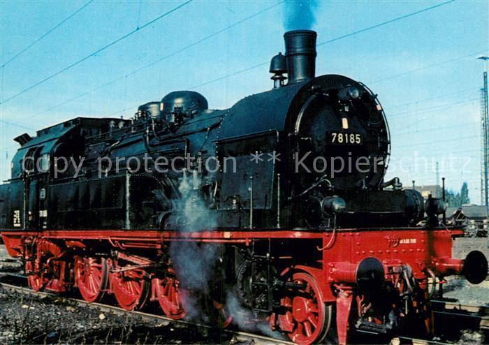 AK / Ansichtskarte Lokomotive Personenzug Tenderlokomotive 78185  Kat. Eisenbahn