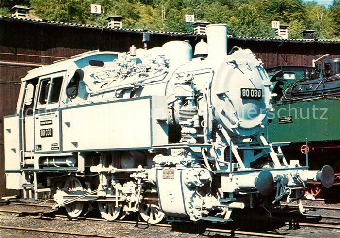 AK / Ansichtskarte Lokomotive Gueterzug Tenderlokomotive 80030 Deutsche Reichsbahn  Kat. Eisenbahn