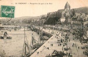 AK / Ansichtskarte Le Treport Perspective du Quai et du Port Kat. Le Treport