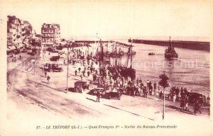 AK / Ansichtskarte Le Treport Quai Francois Bateau Promenade Kat. Le Treport