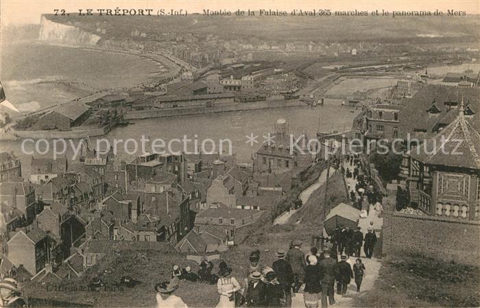 AK / Ansichtskarte Le Treport Panorama de Mers Montee de la Falaise Kat. Le Treport