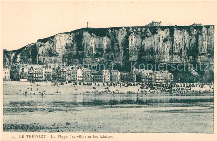 AK / Ansichtskarte Le Treport Plage Villas et les falaises Kat. Le Treport