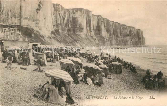 AK / Ansichtskarte Le Treport Plage et la Falaise Kat. Le Treport
