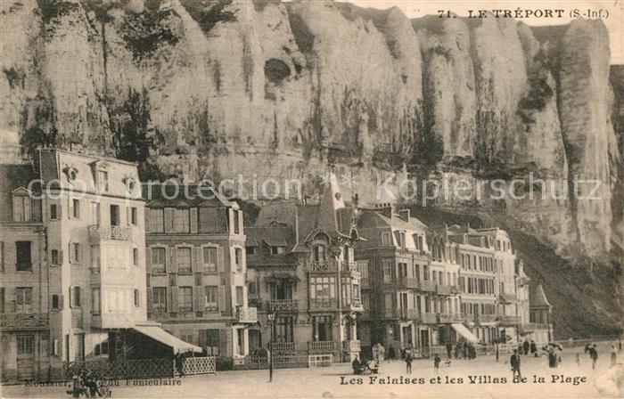 AK / Ansichtskarte Le Treport Les Falaises et Villas de la Plage Kat. Le Treport