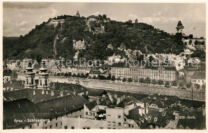 AK / Ansichtskarte Graz Steiermark Blick zum Schlossberg Kat. Graz