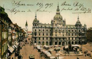 AK / Ansichtskarte Graz Steiermark Rathaus und Herrengasse Denkmal Kat. Graz