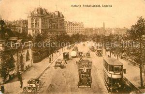 AK / Ansichtskarte London Victoria Embankment Kat. City of London