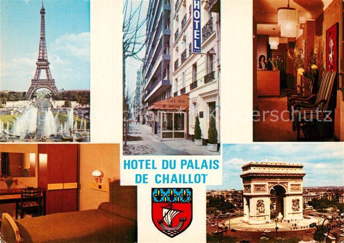 AK / Ansichtskarte Paris Tour Eiffel Hotel du Palais de Chaillot Arc de Triomph Kat. Paris