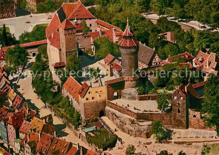 AK / Ansichtskarte Nuernberg Burg Fliegeraufnahme Kat. Nuernberg