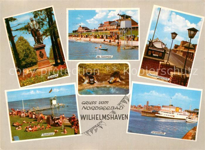 AK / Ansichtskarte Wilhelmshaven Kurpark Suedstrand Seewasseraquarium Strandhalle Kat. Wilhelmshaven
