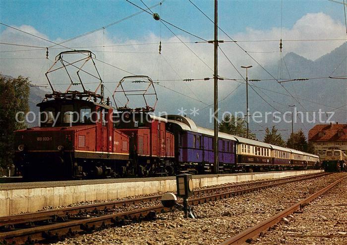 AK / Ansichtskarte Eisenbahn Elektro Lokomotiven 169003 1 169005 6 Deutsche Bundesbahn  Kat. Eisenbahn