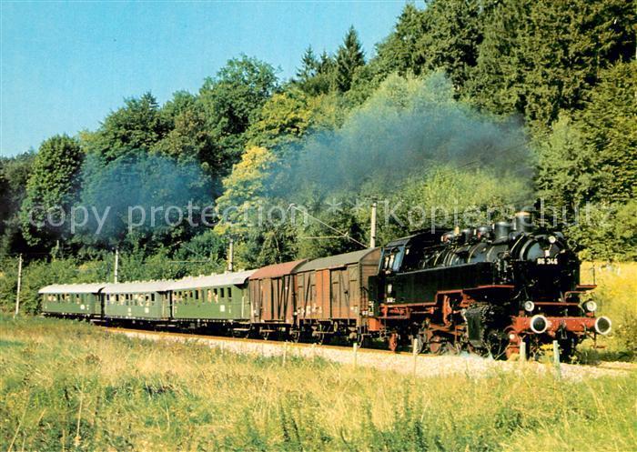 AK / Ansichtskarte Lokomotive Gueterzug Tenderlokomotive 86346 Albtalbahn  Kat. Eisenbahn