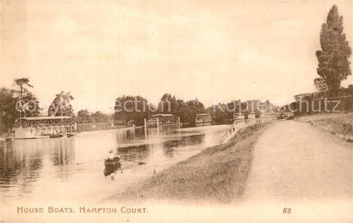 AK / Ansichtskarte Hampton Court House Boats Kat. Herefordshire County of