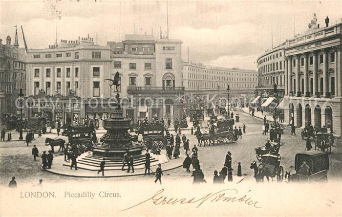 AK / Ansichtskarte London Piccadilly Circus Monument Kat. City of London