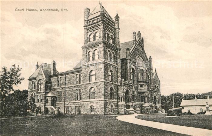 AK / Ansichtskarte Woodstock Ontario Court House Kat. Woodstock