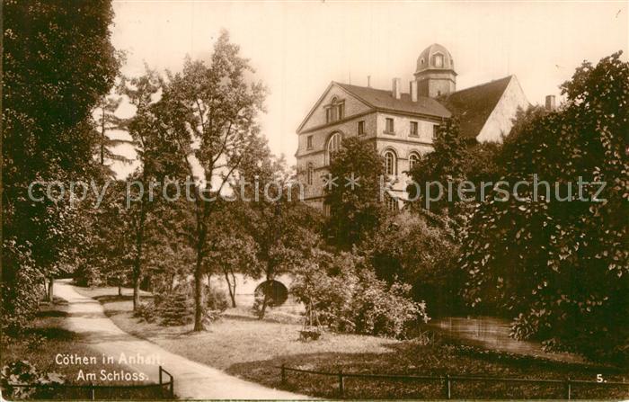 AK / Ansichtskarte Coethen Partie am Schloss Kat. Coethen