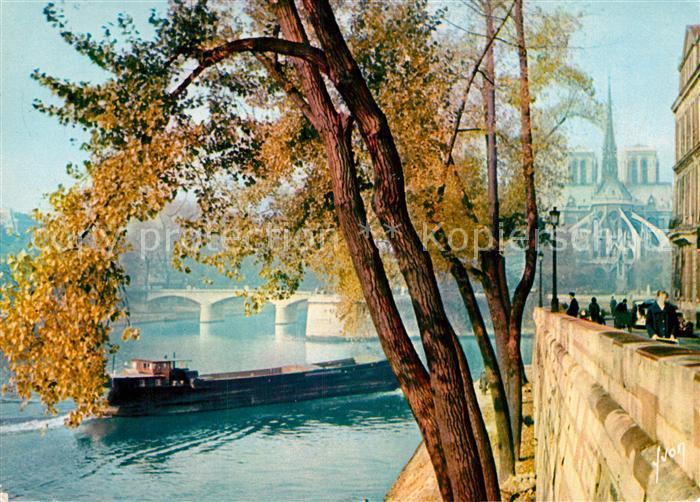 AK / Ansichtskarte Paris Notre Dame vue de Ille Saint Louis Kat. Paris