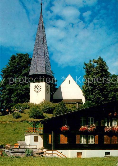 AK / Ansichtskarte Wengen BE Ev Ref Kirche Kat. Wengen