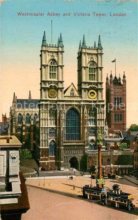 AK / Ansichtskarte London Westminster Abbey and Victoria Tower Kat. City of London