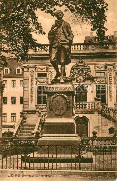 AK / Ansichtskarte Leipzig Goethe Denkmal Statue Kat. Leipzig