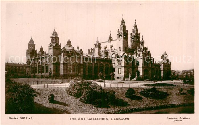 AK / Ansichtskarte Glasgow The Art Galleries Kat. Glasgow City