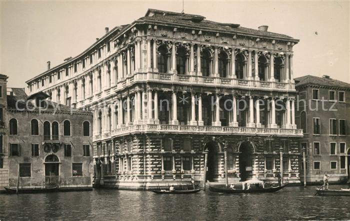 AK / Ansichtskarte Venezia Venedig Palazzo Kat.