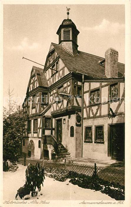 AK / Ansichtskarte Assmannshausen Rhein Alte Bauernschaenke Altes Haus Kat. Ruedesheim am Rhein