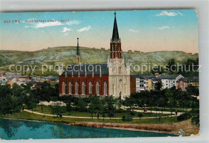 AK / Ansichtskarte Bad Ems Neue katholische Kirche Kat. Bad Ems