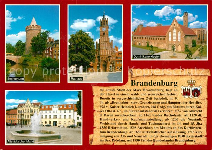 AK / Ansichtskarte Brandenburg Havel Steintorturm Rathaus Dominikanerkloster Altstadt Mark Kat. Brandenburg