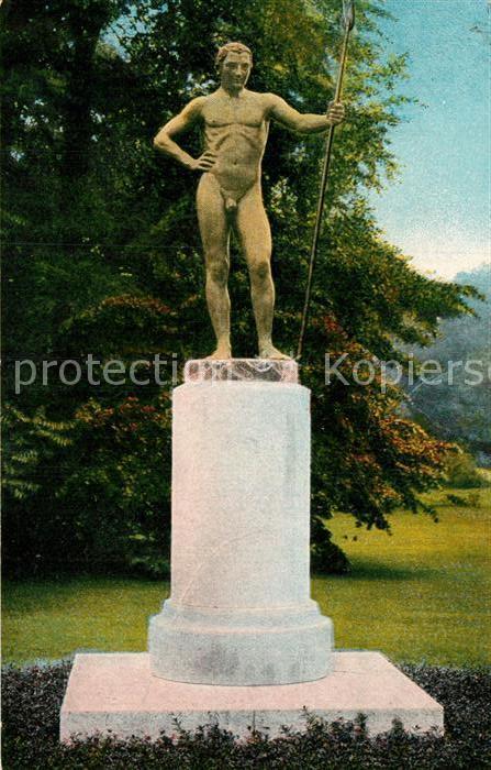AK / Ansichtskarte Leipzig Der Waechter Statue Denkmal Museumsanlagen Kat. Leipzig